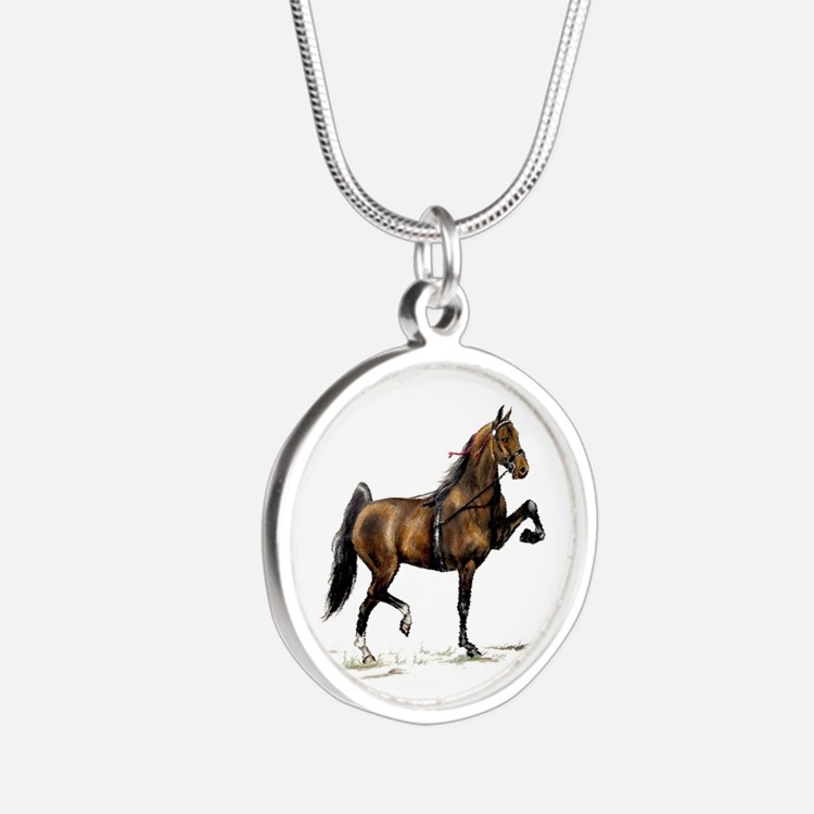 Hackney Pony Silver Round Necklace