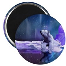 Contemplative Polar Bear Magnet