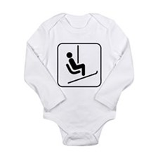 Snow Skiing Chair Lift Long Sleeve Infant Bodysuit