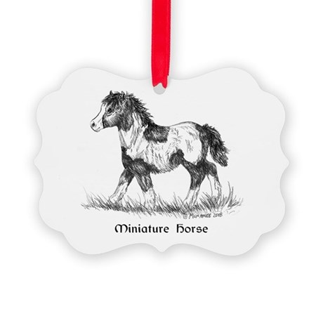 Miniature Horse Foal Picture Ornament