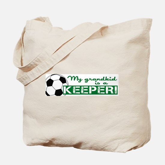 Proud grandparent of a soccer goalkeeper Tote Bag