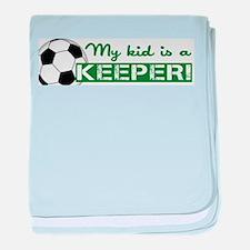 Proud Goalkeeper Parent baby blanket