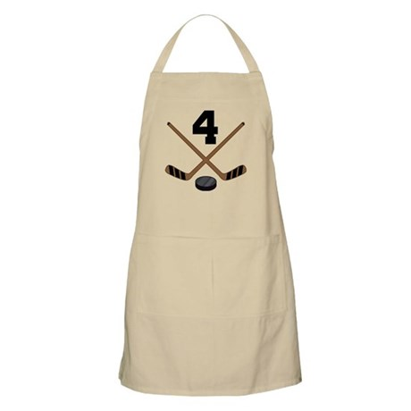 Hockey Player Number 4 Apron