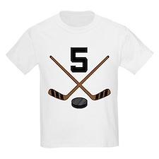Hockey Player Number 5 T-Shirt