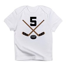 Hockey Player Number 5 Infant T-Shirt