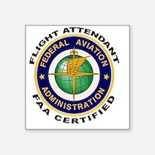 FAA Certified Flight Attendant Sticker