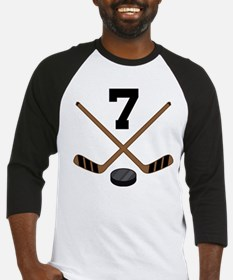 Hockey Player Number 7 Baseball Jersey