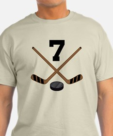 Hockey Player Number 7 T-Shirt
