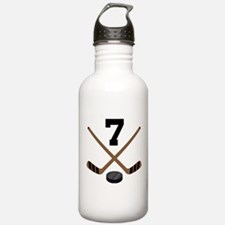 Hockey Player Number 7 Water Bottle