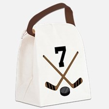 Hockey Player Number 7 Canvas Lunch Bag