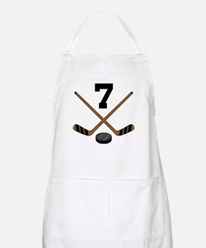 Hockey Player Number 7 Apron