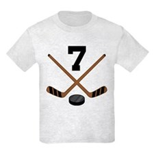 Hockey Player Number 7 T-Shirt