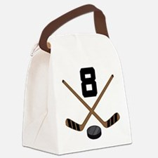 Hockey Player Number 8 Canvas Lunch Bag