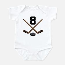 Hockey Player Number 8 Infant Bodysuit