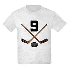 Hockey Player Number 9 T-Shirt