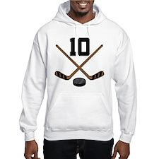 Hockey Player Number 10 Hoodie