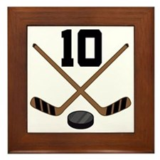 Hockey Player Number 10 Framed Tile