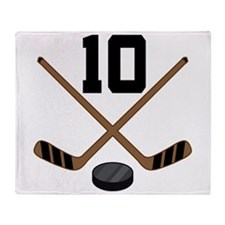 Hockey Player Number 10 Throw Blanket