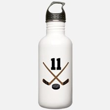 Hockey Player Number 11 Water Bottle