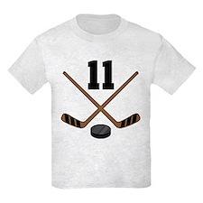 Hockey Player Number 11 T-Shirt