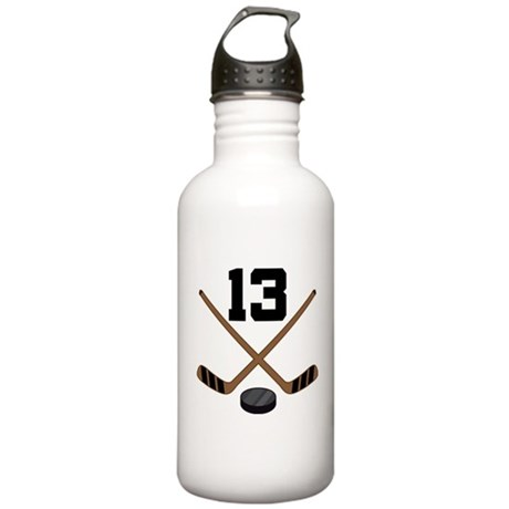Hockey Player Number 13 Stainless Water Bottle 1.0