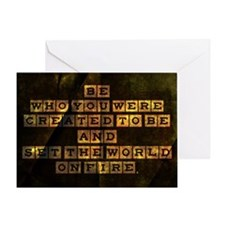 Be Who You Were Created To Be Greeting Card