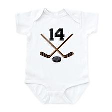 Hockey Player Number 14 Infant Bodysuit