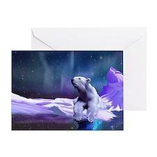 Contemplative Polar Bear Greeting Card