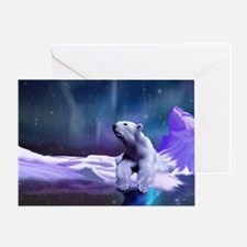 Contemplative Polar Bear Greeting Card