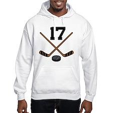 Hockey Player Number 17 Hoodie