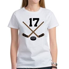 Hockey Player Number 17 Tee