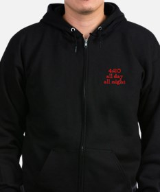 4:20 all day all night Zip Hoodie (dark)