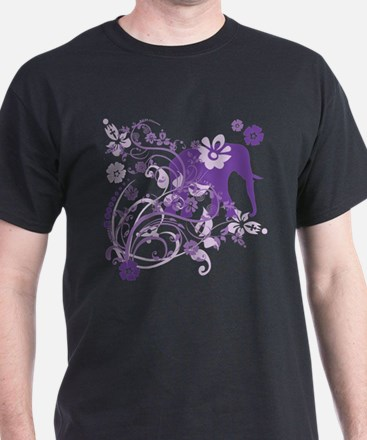 Elephant Swirls Purple T-Shirt