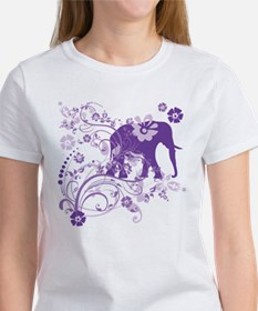 Elephant Swirls Purple Tee