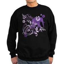 Elephant Swirls Purple Sweatshirt