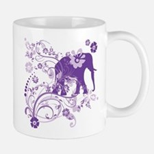 Elephant Swirls Purple Small Small Mug