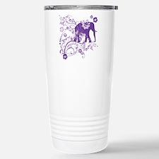 Elephant Swirls Purple Stainless Steel Travel Mug