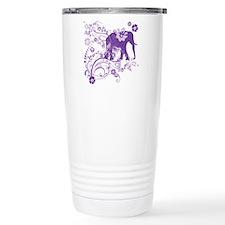 Elephant Swirls Purple Travel Mug