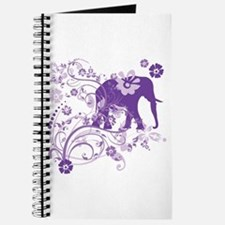 Elephant Swirls Purple Journal