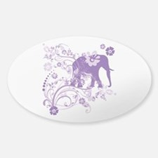 Elephant Swirls Purple Decal