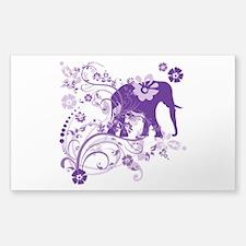 Elephant Swirls Purple Decal