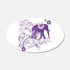 Elephant Swirls Purple Wall Decal