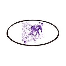 Elephant Swirls Purple Patch
