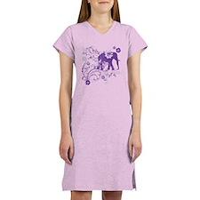 Elephant Swirls Purple Women's Nightshirt
