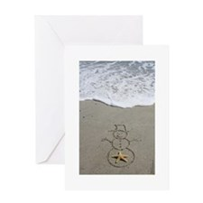 Beachwrites Snowman Greeting Cards