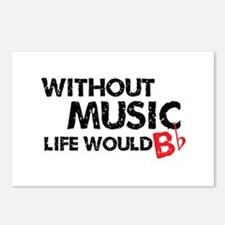 Without Music Life Would B Flat Postcards (Package