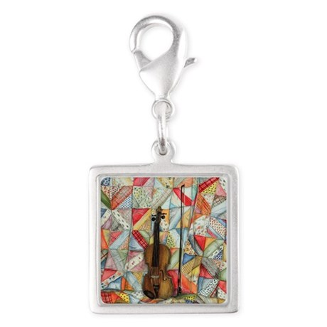 Warm Melodies Silver Square Charm