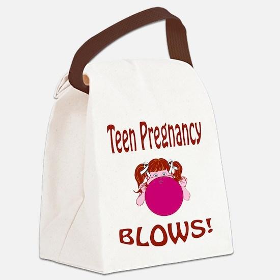 Teen Pregnancy Blows! Canvas Lunch Bag