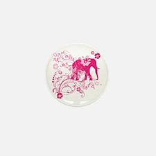 Elephant Swirls Pink Mini Button (10 pack)
