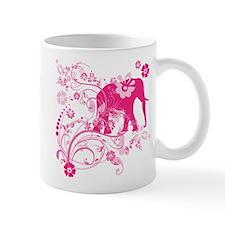 Elephant Swirls Pink Mug